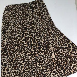 Zara Woman Animal Print Sam Skirt L